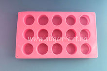 "Load image into Gallery viewer, Round Cylinder Candy Silicone Mold - 15 Cavity 1.5"" (4cm) each"