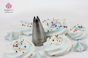 Top pick piping nozzles set of 9 pcs for Meringues & other Desserts-Piping Tips-Sugar Art