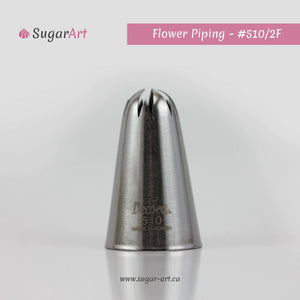 "Flower Piping Nozzle ""510/2F"" - Sugar Art"