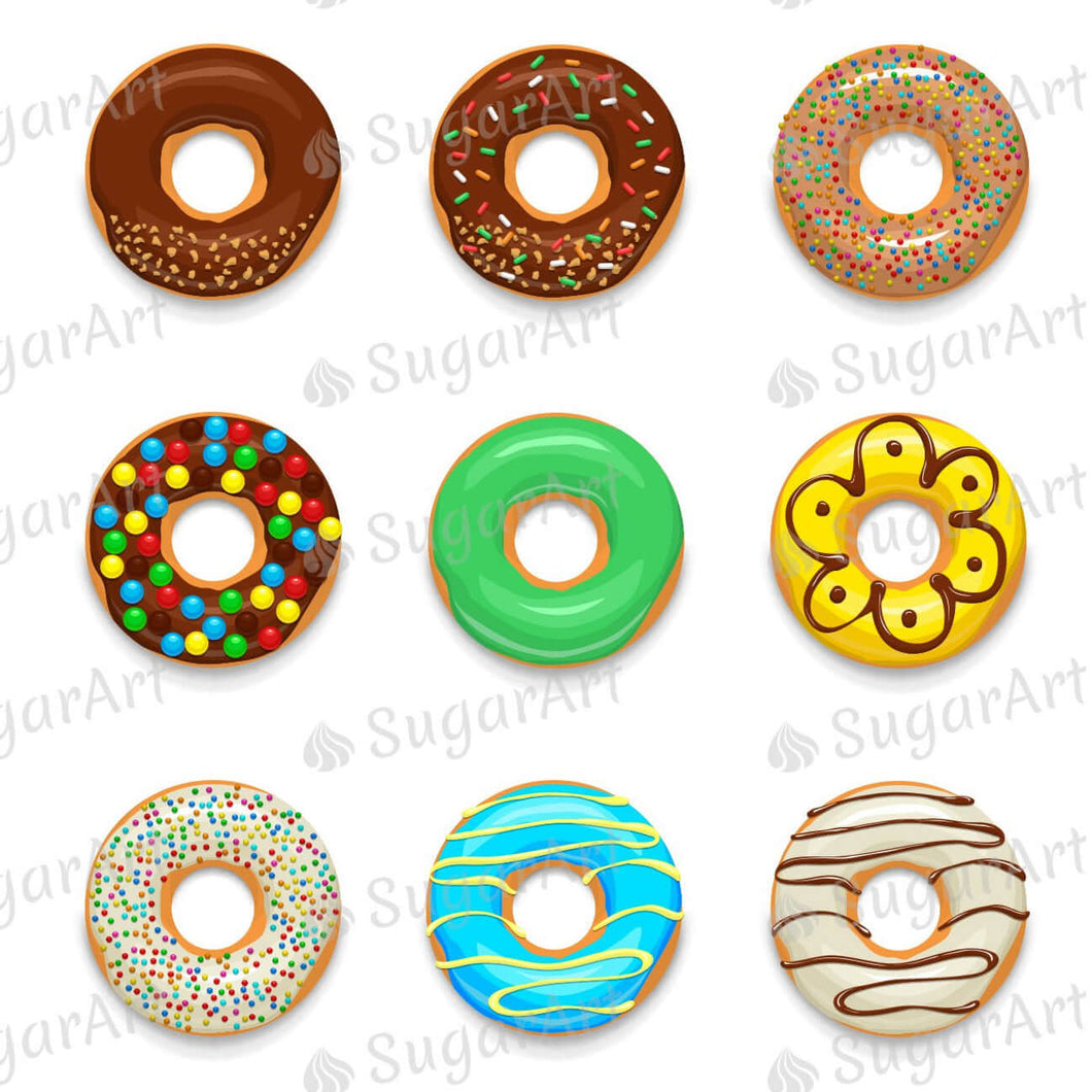 Donuts Set for charms - Round Stencil Mat - ESA114
