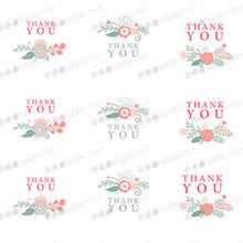 Load image into Gallery viewer, Thank You - E01-Sugar Stamp sheets-Sugar Art