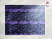 Load image into Gallery viewer, Black Lace On Purple - Edible Fabric - EF008-Edible Fabric-Sugar Art