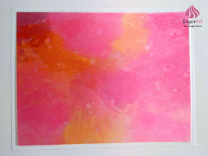 Juicy Pink Orange Watercolor - Edible Fabric - EF011-Edible Fabric-Sugar Art