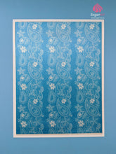 Load image into Gallery viewer, Vintage Paisley Lace On Blue - Edible Fabric - EF012-Edible Fabric-Sugar Art