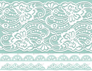 Mint Wedding Laces - Edible Fabric - EF017-Edible Fabric-Sugar Art