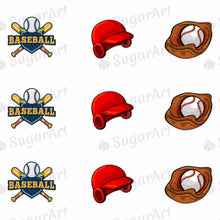 Load image into Gallery viewer, Baseball Sport Game - ESA005 - Sugar Art