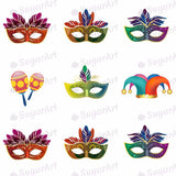 Colorful Carnival, Masks - 1.5 inch - ESA007