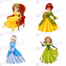 Load image into Gallery viewer, Princesses of Fairy Tales - ESA014-Sugar Stamp sheets-Sugar Art