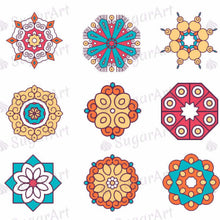 Load image into Gallery viewer, Mandalas Collection - ESA028-Sugar Stamp sheets-Sugar Art