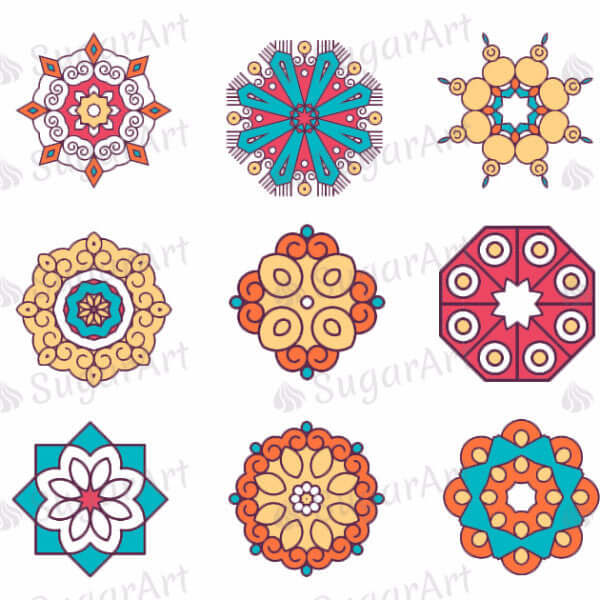 Mandalas Collection - ESA028-Sugar Stamp sheets-Sugar Art