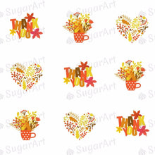 Load image into Gallery viewer, Thank You! Autumn Leaves - ESA041 - Sugar Art