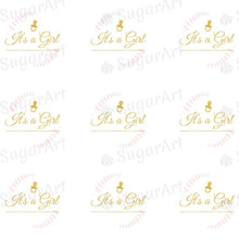 Load image into Gallery viewer, It's a Girl, Gold - ESA061 - Sugar Art