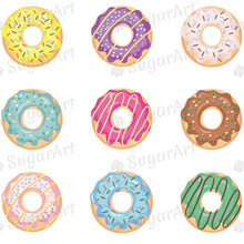 Load image into Gallery viewer, Donuts Collection - ESA066-Sugar Stamp sheets-Sugar Art
