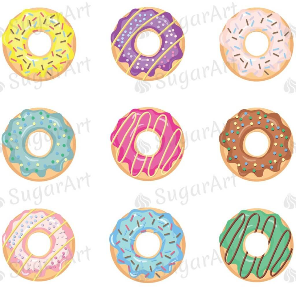 Donuts Collection - ESA066-Sugar Stamp sheets-Sugar Art