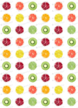 Load image into Gallery viewer, Round Fruit Slice Collection - ESA068-Sugar Stamp sheets-Sugar Art