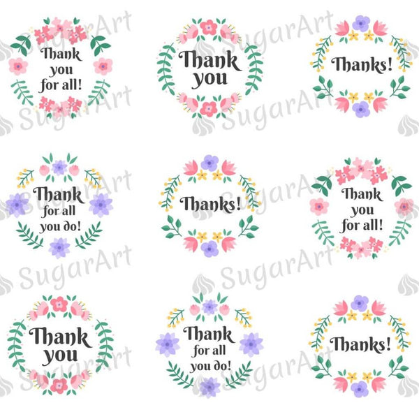 Thank you! Floral Style- ESA069