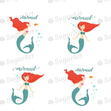 Load image into Gallery viewer, Mermaid - 1.5 inch - ESA071-Sugar Stamp sheets-Sugar Art