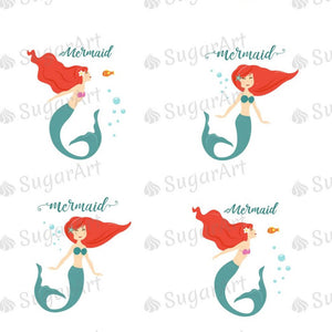 Mermaid - 1.5 inch - ESA071-Sugar Stamp sheets-Sugar Art