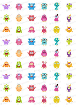 Load image into Gallery viewer, Cute Monsters - ESA074-Sugar Stamp sheets-Sugar Art