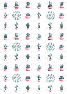 Watercolor Cactus Collection - ESA076 - Sugar Art
