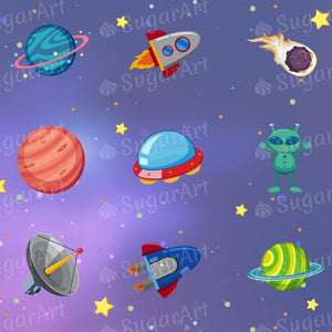 Space Collection, Galaxy Background - ESA080-Sugar Stamp sheets-Sugar Art