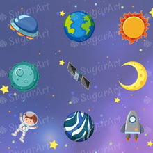 Load image into Gallery viewer, Space Collection, Galaxy Background - ESA080-Sugar Stamp sheets-Sugar Art