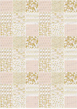 Load image into Gallery viewer, Golden Pink Geometric Pattern - ESA084 - Sugar Art
