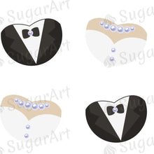 Load image into Gallery viewer, Bride and Groom Wedding Symbol - ESA087-Sugar Stamp sheets-Sugar Art
