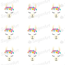 Load image into Gallery viewer, Cute Llama Face - ESA095-Sugar Stamp sheets-Sugar Art