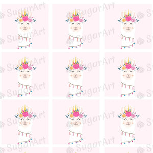 Llama Head - ESA096-Sugar Stamp sheets-Sugar Art