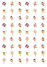 Load image into Gallery viewer, Little Fairies Magical Creatures - ESA101-Sugar Stamp sheets-Sugar Art
