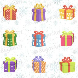 Collection of Gift Box - ESA102-Sugar Stamp sheets-Sugar Art