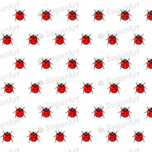 Load image into Gallery viewer, Tiny Ladybugs - 0.5 inch - ESA106 - Sugar Art Canada Meringue Transfer sheets