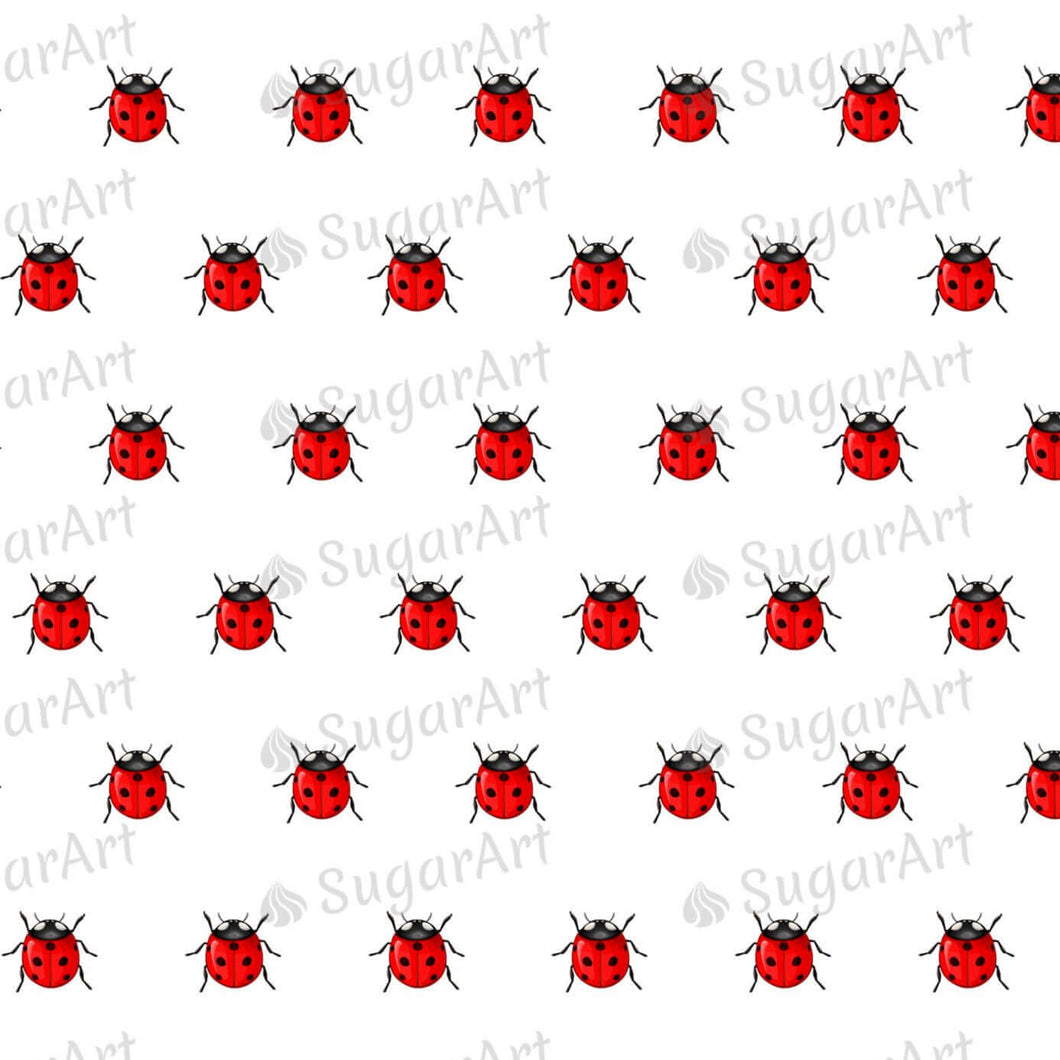 Tiny Ladybugs - 0.5 inch - ESA106 - Sugar Art Canada Meringue Transfer sheets