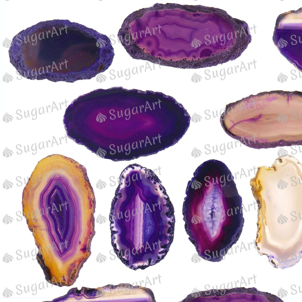 Giant Purple Agate Stones - ESA108 - Sugar Art Canada Meringue Transfer sheets