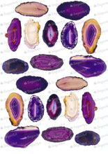 Load image into Gallery viewer, Giant Purple Agate Stones - ESA108 - Sugar Art Canada Meringue Transfer sheets