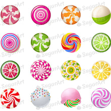 Load image into Gallery viewer, Lollipops Collection - ESA111 - Meringue Chocolate Isomalt transfer sheets