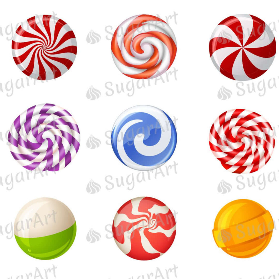Lollipops Collection - ESA111 - Meringue Chocolate Isomalt transfer sheets