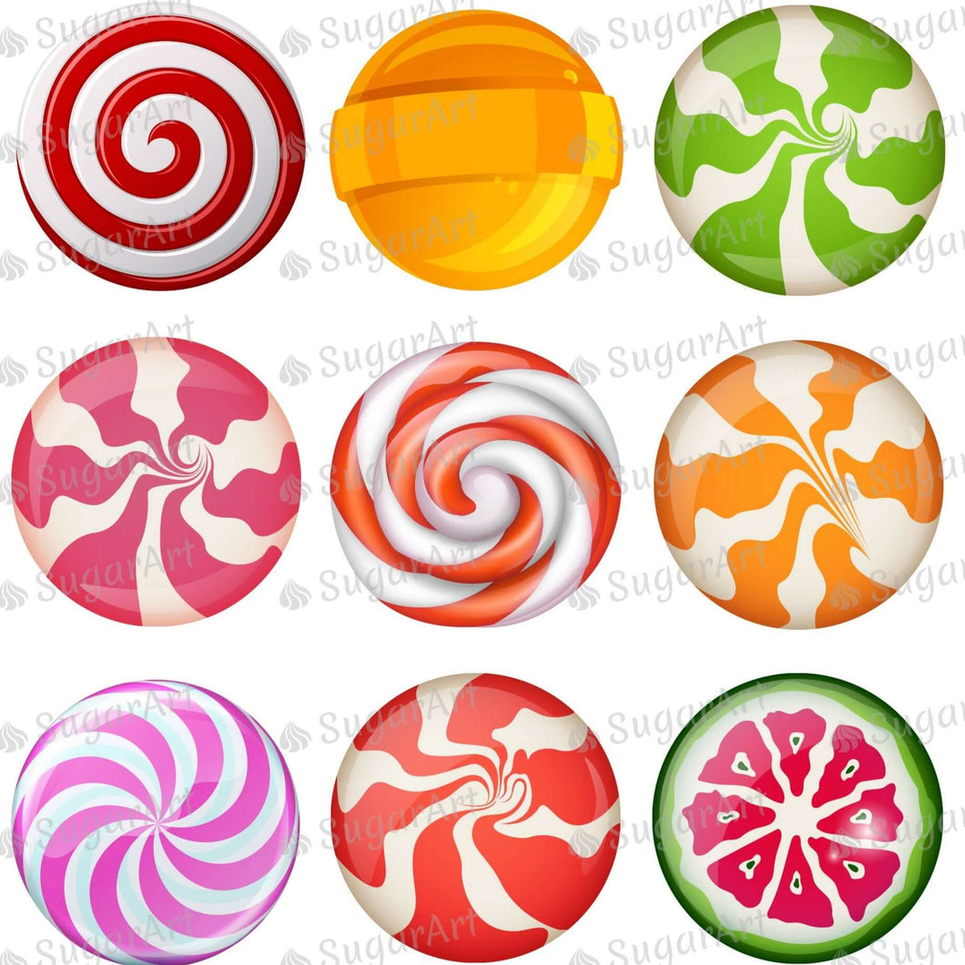 Lollipops Set - 2 inch - ESA112 - Meringue Chocolate Isomalt transfer sheets