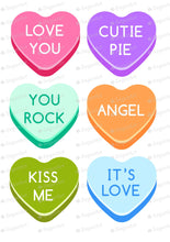 Load image into Gallery viewer, 6 Giant Sweetheart Valentine Candies - HSA118
