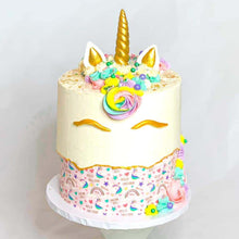 Load image into Gallery viewer, Doodle Rainbow Unicorn Magical Pattern - Icing - ISA082-Icing/Frosting Paper-Sugar Art