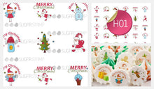 Load image into Gallery viewer, Merry Christmas - H01-Sugar Stamp sheets-Sugar Art
