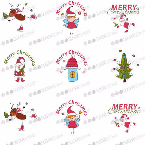 Merry Christmas - H01-Sugar Stamp sheets-Sugar Art