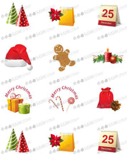 Load image into Gallery viewer, Merry Christmas, Happy New Year - H02-Sugar Stamp sheets-Sugar Art