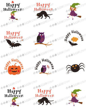 Load image into Gallery viewer, Happy Halloween - H04-Sugar Stamp sheets-Sugar Art