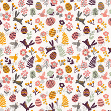 Load image into Gallery viewer, Easter Eggs and cute leaves pattern - HSA005-Sugar Stamp sheets-Sugar Art