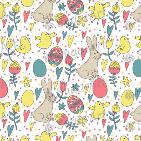Retro Easter Pattern - HSA006