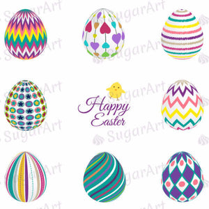 Decorated Easter Eggs Collection - HSA023-Sugar Stamp sheets-Sugar Art