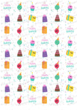Happy Birthday! Colorful Smiling Birthday Items - HSA029