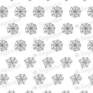 Tiny Spiders and Spider Webs - 0.5 inch - HSA043-Sugar Stamp sheets-Sugar Art